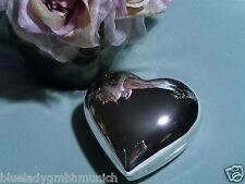 Schmuckdose 7x6 ❤ Heart ❤ versilbert SCHMUCK SCHATULLE Trinket Box BOITE argenté