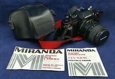 Miranda MS-2 Super 35mm SLR Film Camera Kit w/ Lens, Strap, case, Made in Japan