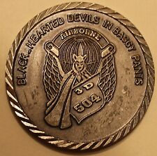 82d Airborne 504th PIR 3rd BN Black-Hearted Devils TF 3.504 Army Challenge Coin