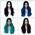 Women Long Hair Full Wig Wavy Curly Ombre Lolita Synthetic Anime Cosplay Party