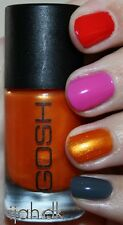 New! GOSH Nail Color Nail Polish ORANGE DROPS ~ orange glass fleck shimmer #581