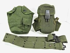 LOT of 3: US Military Ammo Pouch, Canteen Cover, Utility Belt