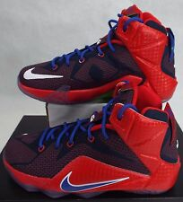 NIKE 5.5 Youth 5.5y Lebron XII GS Red Blue Superman Shoes$160 685181-601 Women 7