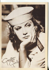 PICTURE POST CARD OF GRETA GARBO UNKNOWN DATE LOOKS LIKE 30'S OR 40'S