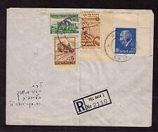ISRAEL INTERIM PERIOD LETTER BACK CANCEL 11 MAI 1948 TEL AVIV REGISTERED