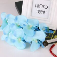Blue Style Butterfly Orchid Silk Flower Phalaenopsis Bouquet Home Wedding Decor