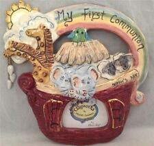 Blue Sky Clayworks Heather Goldminc Noah's Ark First Communion Photo Frame New