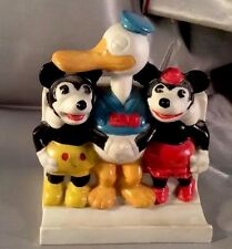 Mickey & Minnie Mouse Donald Duck Toothbrush Holder Walt Disney 1930s Japan