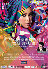 "SHILA AMZAH ""COLORFUL WORLD 2016"" PERTH, AUSTRALIA CONCERT TOUR POSTER"