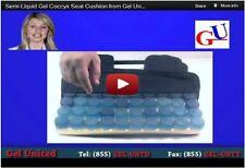 Semi Liquid Polymer Gel Coccyx Seat Cushion