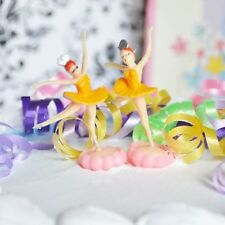 6 Ballerina Yellow Cake Topper Ballet Favor Dance Birthday Party Decor Cupcake
