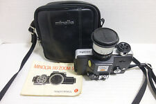 Vintage Minolta 110 Zoom SLR w/ Instruction Manual and Carry Case