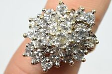 10k Solid Gold Faux Diamond Twist Shank Cluster Ring 7.6g D-VVS1 4tcw Custom