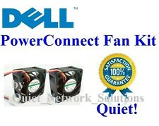 Quiet Dell PowerConnect 5324 Fan Kit (UJ371), 2x Fans Best for Home Networking!