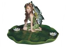 "6"" Green Fairy Jewelry Tray Dish Fantasy Decor Statue Figurine Magic Figure"