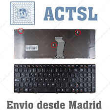 TECLADO ESPAÑOL para PORTATIL Lenovo Ideapad G580 Black Frame Black (For Win8)