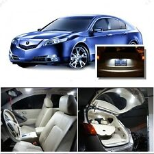 For Acura TL 2009-2014 Xenon White LED Interior kit + White License Light LED