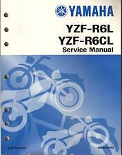 1999 YAMAHA MOTORCYCLE YZF-R6L, YZF-R6CL  SERVICE MANUAL LIT-11616-12-62 (559)
