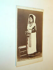 carte de visite COSTUME d'ITALIE  photo photographie 6x10 cm