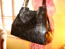 NWT COACH EDIE Mini Stud BLACK/Antiqued Nickel SHOULDER BAG 33519 $895 DustBag