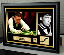 "Jimmy White ""The Whirlwind"" Snooker Framed Canvas Print Signed.""Great Gift"""