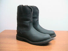 NEW Womens 7 B Justin Brown/Black Waterproof Western Riding Work Cowboy Boots