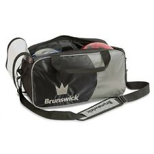 Brunswick Crown 2 Ball Tote Bowling Bag Black/Silver New 2016/17 Season