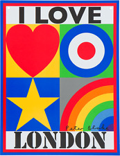 Peter Blake  I LOVE LONDON Print Limited Edition Size: 500