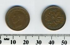 Canada 1943 - 1 Cent Bronze Coin - King George VI - WWII Mintage