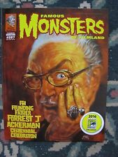 Famous Monsters 287 Uncirculated STICKERED San Diego Comic Con cover of Forry