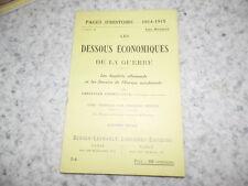 1915.Pages d'histoire 54.Dessous économiques de la guerre.14-18.Cornélissen