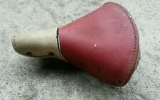Vintage Wrights Springer Saddle Red White Seat Rat Rod Cruiser