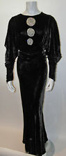 RARE & BEAUTIFUL Vintage 1930s SILK VELVET GOWN ~ Dress ~ MOVIE STAR ~HOLLYWOOD