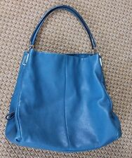COACH Madison Phoebe Leather Shoulder Bag 24621 Dark Plume