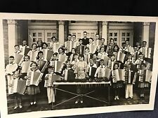 1930s School Children Group Holding Accordions RPPC Postcard Music Xylophone