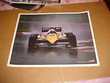 1983 Renault elf Formula 1 racing poster driven by Alain Prost