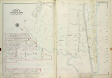1917 RICHMOND, STATEN ISLAND, NY CAMP WARREN & MOORES STATIONS, COPY ATLAS MAP
