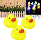 3x LED Duck Light Lamp Flashing Lovely Baby Kids Bath Toy Multi Color