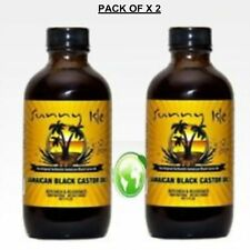 Jamaican Black Castor Oil Pure 100% for Hair Growth-Extra Dark 4 Oz (Pack of 2)