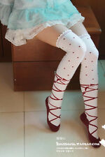 Women Girl Cute Ballet Shoe Lolita Stocking Knee Thigh-high Sock Dance Cosplay