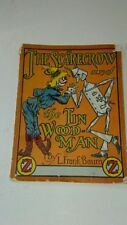 "WIZARD OF OZ RARE 1933 JELLO ""THE SCARECROW AND THE TIN WOODMAN""  BOOK BAUM"