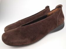 WOLKY Brown Suede Slip On Ballet Flats Shoes Sz 42