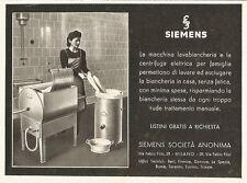 W2747 SIEMENS la macchina lavabiancheria - Pubblicità del 1940 - Old advertising