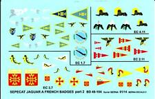 Berna Decals 1/48 SEPECAT JAGUAR A FRENCH SQUADRON BADGES Part 2