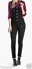 H&M 16 UK / 42 Stretch SKINNY LATZHOSE LATZJEANS LATZ Jeans OVERALL DUNGAREES