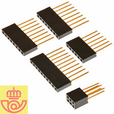 Lote conectores hembra Arduino UNO 1x6 pines - 2x8 pines - 1x10 pines - 1x(2x3)