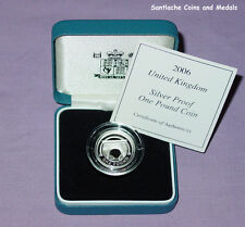 2006 ROYAL MINT SILVER PROOF £1 COIN IN CASE - Egyptian Arch Bridge