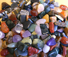 WHOLESALE 50 ASSORTED POLISHED TUMBLESTONE GEMSTONE CRYSTALS 25 med & 25 large