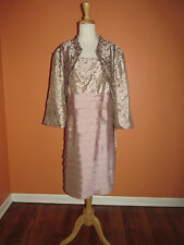 New R & M Richards Size 20W Mauve 2 PC. Bolero Jacket and Shutter Pleat Dress
