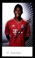 David Alaba Autogrammkarte Bayern München 2011-12 Original Signiert+ C 2660